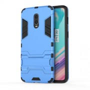 Cool Guard PC TPU Hybrid Phone Shell with Kickstand for OnePlus 6T - Baby Blue