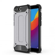 Armor Guard Plastic + TPU Hybrid Back Case for Huawei Y6 (2018) / Honor 7A (without Fingerprint Sensor) - Grey