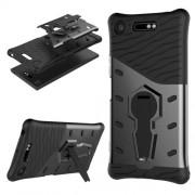 Υβριδική Θήκη Σιλικόνης TPU σε Συνδυαμό με Πλαστικό για Sony Xperia XZ1 - Γκρι / Μαύρο