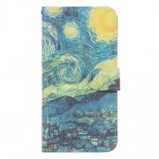 Pattern Printing Leather Wallet Stand Cover for Sony Xperia XZ1 - Starry Night