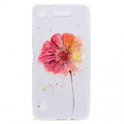 Pattern Printing Soft TPU Jelly Phone Case for Sony Xperia XZ1 - Vivid Flower