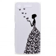 Pattern Printing Soft TPU Jelly Cellphone Cover for Sony Xperia XZ1 - Butterfly Girl