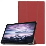 Δερμάτινη Θήκη Βιβλίο Tri-Fold Smart Cover με Βάση Στήριξης για Samsung Galaxy Tab A 10.5 (2018) T590 T595 - Καφέ