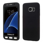 2-in-1 Full Protection PC Case for Samsung Galaxy S7 G930 + Screen Film - Black