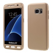 2-in-1 Full Protection PC Case for Samsung Galaxy S7 G930 + Screen Film - Gold