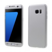 2-in-1 Full Protection PC Cover for Samsung Galaxy S7 edge G935 + Screen Protector Film - Silver