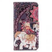 Δερμάτινη Θήκη Πορτοφόλι με Βάση Στήριξης για Xiaomi Redmi Note 6 Pro - Ελέφαντας σε Tribal Φόντο