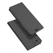 DUX DUCIS Skin Pro Series Card Holder Stand Leather Mobile Case for Xiaomi Redmi 6A - Dark Grey