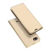 DUX DUCIS Skin Pro Series Card Holder Stand Leather Mobile Cover for Xiaomi Redmi 6A - Gold