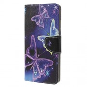 Δερμάτινη Θήκη Πορτοφόλι με Βάση Στήριξης για Samsung Galaxy A9 (2018) / A9 Star Pro / A9s - Όμορφες Πεταλούδες