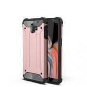 Tough Armor Υβριδική Θήκη Σιλικόνης TPU σε Συνδυαμό με Πλαστικό για Samsung Galaxy J6 Plus J610F / J6 Prime - Ροζε Χρυσαφί