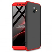 GKK [Detachable 3-Piece] Matte Hard Back Case for Samsung Galaxy J6 Plus - Black / Red