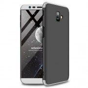 GKK Detachable 3-Piece Matte Hard PC Case for Samsung Galaxy J6 Plus - Black / Silver