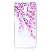 Embossed Pattern TPU Soft Shell for Samsung Galaxy J6 Plus / J6 Prime - Cherry Blossom