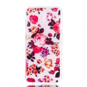 Pattern Printing Soft TPU Case Shell for Samsung Galaxy J6+ J610 / J6 Prime - Blooming Flower