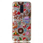Christmas Pattern Printing Soft TPU Jelly Back Case for Samsung Galaxy A6 Plus (2018) / A9 Star Lite - Christmas Elements