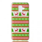 Christmas Series Pattern Printing TPU Mobile Phone Case for Samsung Galaxy A6 (2018) - Christmas Tree and Reindeer