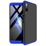 GKK Detachable 3-Piece Matte Hard Plastic Case for Samsung Galaxy A7 (2018) - Blue / Black
