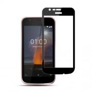 MOCOLO Silk Print Arc Edge Full Coverage Tempered Glass Screen Protector for Nokia 1 - Black