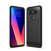 Carbon Fibre Brushed TPU Case for LG V40 ThinQ - Black