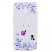 Θήκη Σιλικόνης TPU για Meizu M6 Note - Πεταλούδες και Λουλούδια
