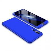 GKK 360 μοιρών Σκληρή Θήκη Ματ με Βελούδινη Υφή Πρόσοψης και Πλάτης για Huawei P20 Pro - Μπλε