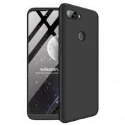 GKK 360 μοιρών Σκληρή Θήκη Ματ με Βελούδινη Υφή Πρόσοψης και Πλάτης για Xiaomi Mi 8 Lite / Mi 8 Youth (Mi 8X) - Μαύρο