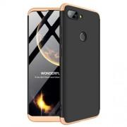 GKK 360 μοιρών Σκληρή Θήκη Ματ με Βελούδινη Υφή Πρόσοψης και Πλάτης για Xiaomi Mi 8 Lite / Mi 8 Youth (Mi 8X) - Μαύρο / Χρυσαφί