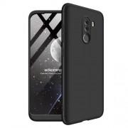 GKK 360 μοιρών Σκληρή Θήκη Ματ με Βελούδινη Υφή Πρόσοψης και Πλάτης για Xiaomi Pocophone F1 - Μαύρο