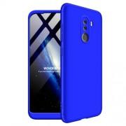 GKK 360 μοιρών Σκληρή Θήκη Ματ με Βελούδινη Υφή Πρόσοψης και Πλάτης για Xiaomi Pocophone F1 - Μπλε