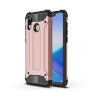 Armor Guard Heavy Duty Rugged Hybrid Plastic + TPU Mobile Shell Case for Huawei Honor Play - Rose Gold