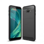 Θήκη Σιλικόνης TPU Carbon Fiber Brushed για Samsung Galaxy J4 Plus - Μαύρο