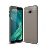 Θήκη Σιλικόνης TPU Carbon Fiber Brushed για Samsung Galaxy J4 Plus - Γκρι