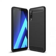 Θήκη Σιλικόνης TPU Carbon Fiber Brushed για Samsung Galaxy A7 (2018) - Μαύρο