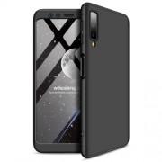 GKK 360 μοιρών Σκληρή Θήκη Ματ με Βελούδινη Υφή Πρόσοψης και Πλάτης για Samsung Galaxy A7 (2018) - Μαύρο
