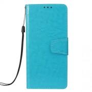 Δερμάτινη Θήκη Πορτοφόλι με Βάση Στήριξης (Όψη Vintage Oil) για Samsung Galaxy A7 (2018) - Μπλε