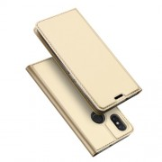 DUX DUCIS Skin Pro Series Θήκη Πορτοφόλι με Βάση Στήριξης για Xiaomi Mi 8 (6.21-inch) - Χρυσαφί