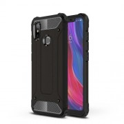Black - Heavy Duty Rugged PC + TPU Hybrid Back Phone Shell for Xiaomi Mi 8 (6.21-inch)