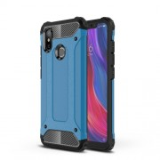 Baby Blue - Heavy Duty Rugged PC + TPU Hybrid Back Phone Shell for Xiaomi Mi 8 (6.21-inch)