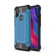 Baby Blue - Heavy Duty Rugged Hybrid Phone Case (Plastic + TPU) for Xiaomi Mi 8 SE (5.88-inch)
