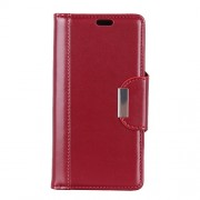 For Xiaomi Mi 8 Lite / Mi 8 Youth (Mi 8X) PU Leather Phone Casing / Wallet / Stand / Double-sided Magnetic Strap - Red