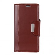 For Xiaomi Mi 8 Lite / Mi 8 Youth (Mi 8X) PU Leather Protective Case / Wallet / Stand / Double-sided Magnetic Strap - Brown