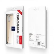 ROCK Dr. V Series Θήκη Βιβλίο Υβριδική Σιλικόνης και Πλαστικού στην Πλάτη και Διάφανη Γκρι Πρόσοψη με Δυνατότητα Αφής για iPhone Χ - Χρυσαφί