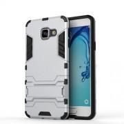 Cool Case Plastic + TPU Hybrid Cover for Samsung Galaxy A3 SM-A310F (2016) - Silver