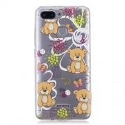 Θήκη Σιλικόνης TPU για Xiaomi Redmi 6 - Γλυκό Αρκουδάκι