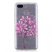 Θήκη Σιλικόνης TPU για Xiaomi Redmi 6 - Δέντρο με Ροζ Λουλούδια