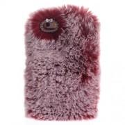 Μαλακή Γούνινη Θήκη Πλάτης με Στρας για iPhone 6 / 6s 4.7 inch - Κόκκινο