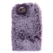 Μαλακή Γούνινη Θήκη Πλάτης με Στρας για iPhone 6 / 6s 4.7 inch - Μωβ