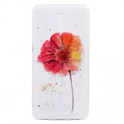 Ultra-thin Patterned Soft TPU Back Mobile Phone Cover for Meizu M6 Note - Red Flowers