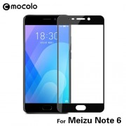 MOCOLO Silk Print Arc Edge Full Coverage Tempered Glass Screen Protector Film for Meizu M6 Note -  Black